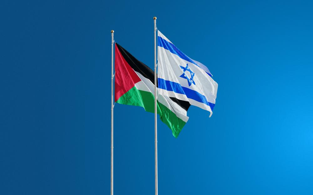 Vlag Israël en Palestina